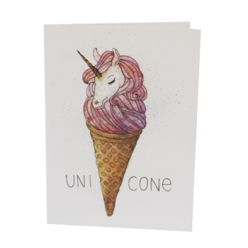 Открытка с единорогом Unicone
